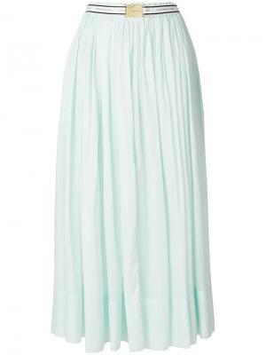 Расклешенная юбка-миди Alexandre Vauthier. Цвет: зелёный