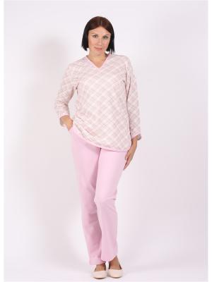 Пижамы Красная Заря. Цвет: розовый, белый