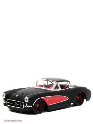 Автомобиль Chevy Corvette 1957 Jada. Цвет: черный