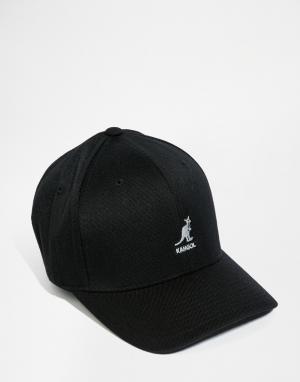 Kangol Шерстяная бейсболка. Цвет: черный