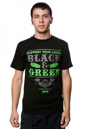 Футболка  Black And Green Creature. Цвет: черный