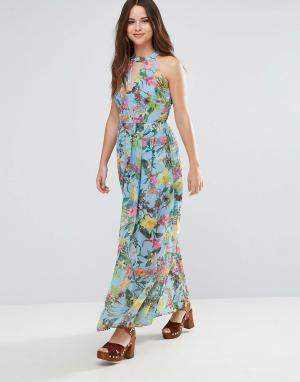 Louche Платье макси Zaela. Цвет: синий