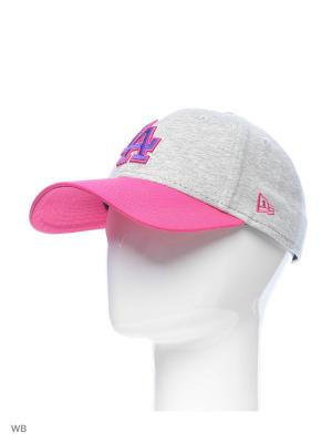 Бейсболка New Era. Цвет: серый, розовый