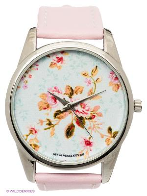 Часы Mitya Veselkov Розы. Цвет: розовый