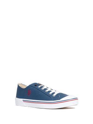 Кеды U.S. Polo Assn.. Цвет: голубой