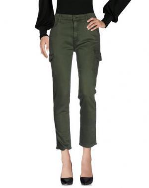 Повседневные брюки MOTHER. Цвет: зеленый-милитари