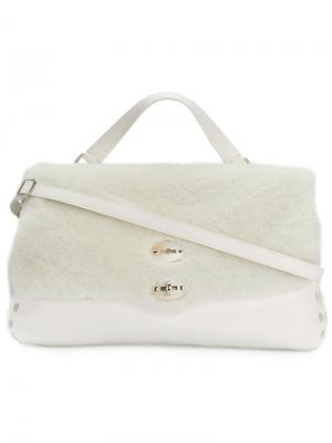 Большая сумка-тоут Postina Zanellato. Цвет: белый