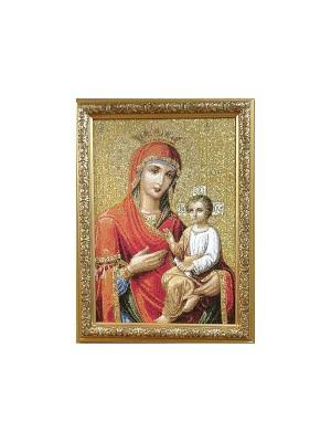 Гобеленовая картина Икона СКОРОПОСЛУШНИЦА 25х35 см Рапира. Цвет: золотистый, красный