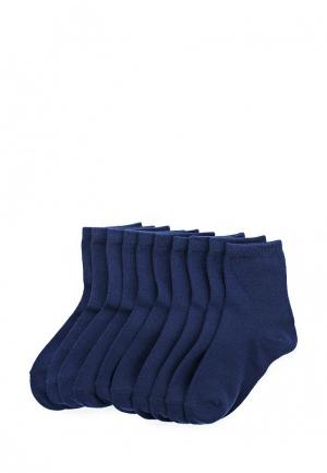 Комплект носков 10 пар oodji. Цвет: синий