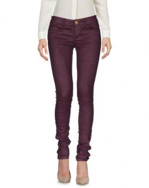 Повседневные брюки E-GÓ. Цвет: баклажанный