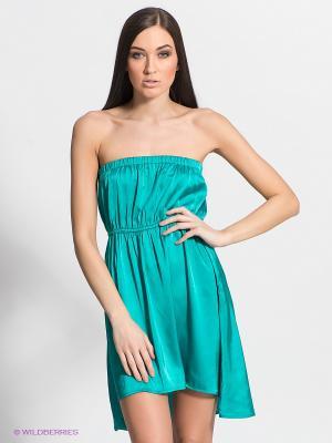Платье FRACOMINA. Цвет: бирюзовый