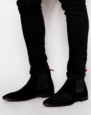 ASOS Замшевые ботинки Chelsea. Цвет: черный
