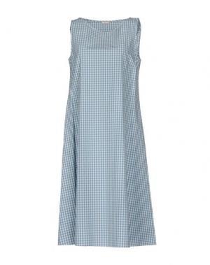 Платье до колена A.B APUNTOB. Цвет: небесно-голубой