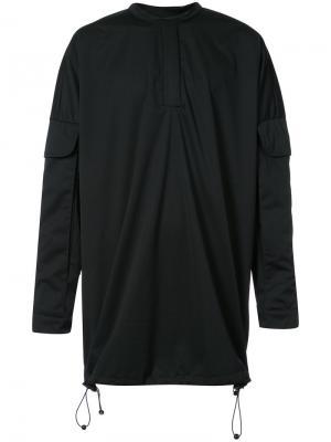 Рубашка свободного кроя с карманами Cottweiler. Цвет: чёрный
