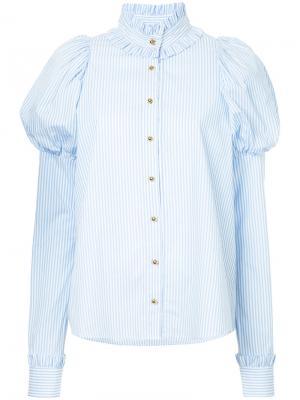Рубашка с аппликацией сердец Macgraw. Цвет: синий