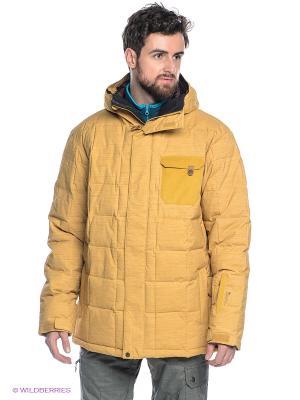 Куртка Quiksilver. Цвет: горчичный