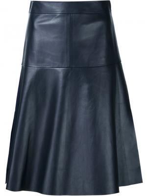 Классическая расклешенная юбка Maison Ullens. Цвет: синий