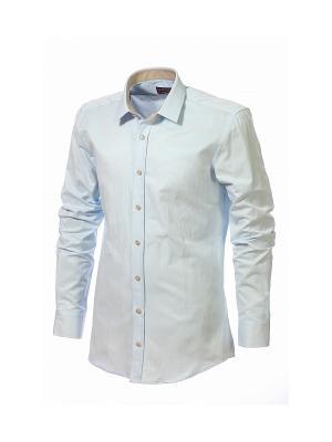 Рубашка BIRIZ. Цвет: светло-голубой