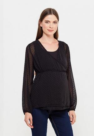 Блуза Mamalicious. Цвет: черный