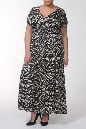 Платье QNEEL Q'NEEL. Цвет: черный, бежевый