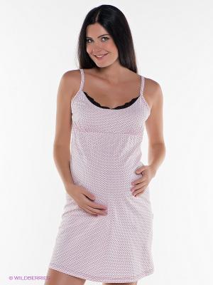 Сорочка для беременных и кормящих Hunny Mammy. Цвет: розовый, черный