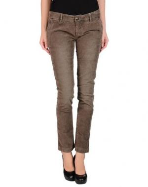 Повседневные брюки MONOCROM. Цвет: какао