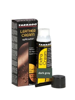 Крем тюбик с губкой Leather cream, БОЛЬШОЙ, 75мл. (dark gray) Tarrago. Цвет: темно-серый
