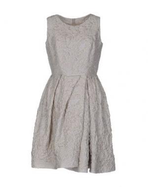 Короткое платье DICE KAYEK. Цвет: бежевый