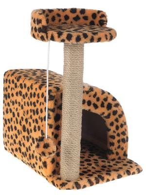 Домик-когтеточка для кошки Doggy Style. Цвет: темно-коричневый, оранжевый