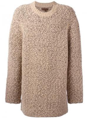 Свободный удлиненный свитер Season 3 Yeezy. Цвет: телесный