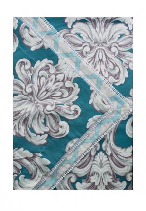 Комплект постельного белья Евро Bellehome. Цвет: бирюзовый