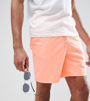 ASOS Оранжевые шорты для плавания средней длины DESIGN TALL. Цвет: оранжевый