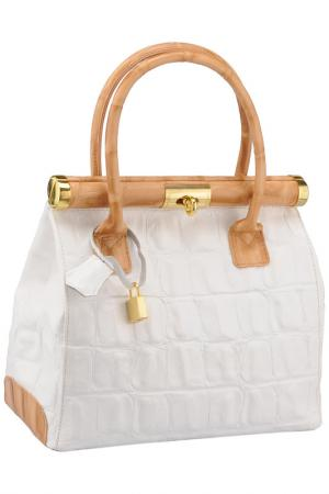 Bag MATILDA ITALY. Цвет: white and honey