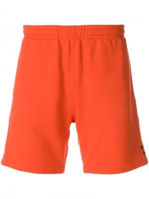 Спортивные шорты с люверсами Ron Dorff. Цвет: жёлтый и оранжевый