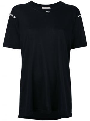 Декорированная футболка Alix. Цвет: чёрный