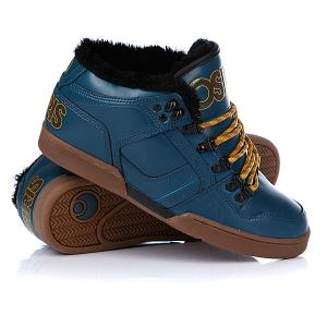Кеды кроссовки утепленные  Nyc 83 Mid Shr Indigo/Black/Gum Osiris. Цвет: голубой