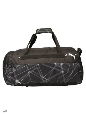 Сумка Fund. Sports Bag Graphic M Puma. Цвет: черный, белый
