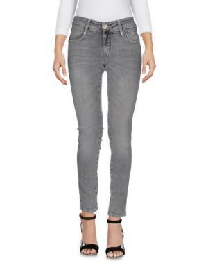 Джинсовые брюки 9.2 BY CARLO CHIONNA. Цвет: серый