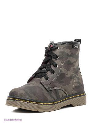 Ботинки XTI. Цвет: серо-зеленый