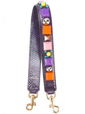 Декорированная лямка на плечо Dolce & Gabbana. Цвет: розовый и фиолетовый