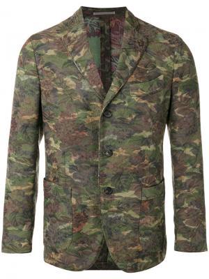 Пиджак с цветочным принтом Gabriele Pasini. Цвет: зелёный