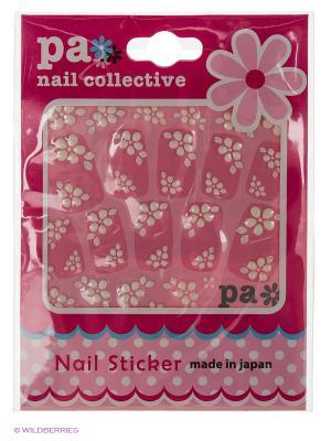 Наклейки для ногтевого дизайна Цветы PA NAIL COLLECTIVE Jewelry Sticker Arch Flowers presents since 2004 ETERNAL. Цвет: серебристый