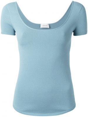 Scoop neck T-shirt Lemaire. Цвет: синий