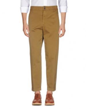 Повседневные брюки GAZZARRINI. Цвет: хаки