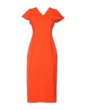 Платье длиной 3/4 ROLAND MOURET. Цвет: красный