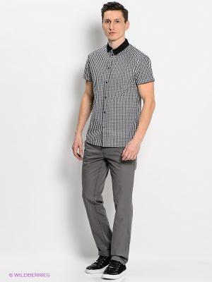 Рубашка People. Цвет: серый, белый, черный