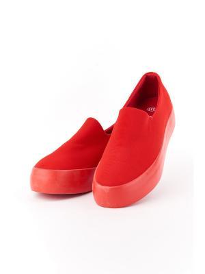 Слипоны LaBella Vita. Цвет: красный