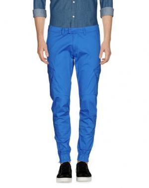 Повседневные брюки HōSIO. Цвет: лазурный