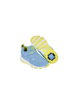 Роликовые кроссовки Heelys Rapido. Цвет: голубой, белый