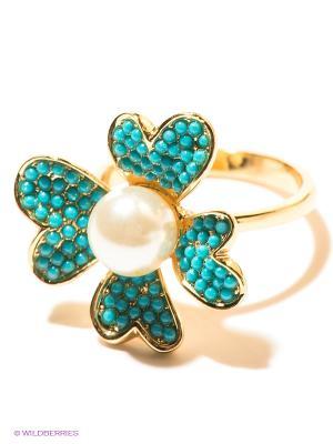 Кольцо Infiniti. Цвет: золотистый, голубой, молочный